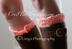 29.lacy crochet boot cuff free pattern