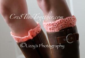 29.lacy crochet boot cuff free pattern