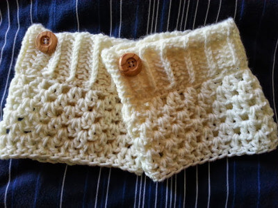 3.how to crochet boot cuff