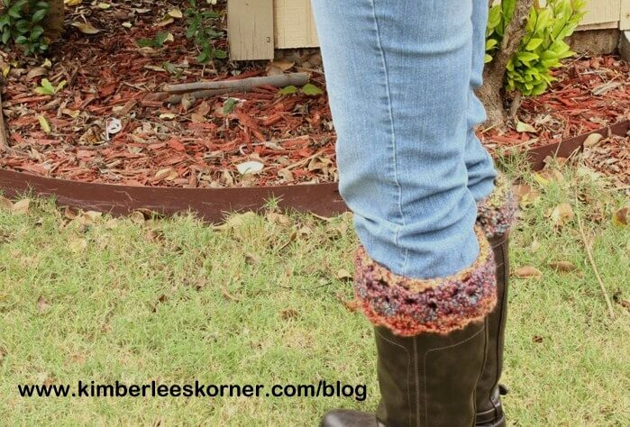 30. crochet boot toppers tutorial.