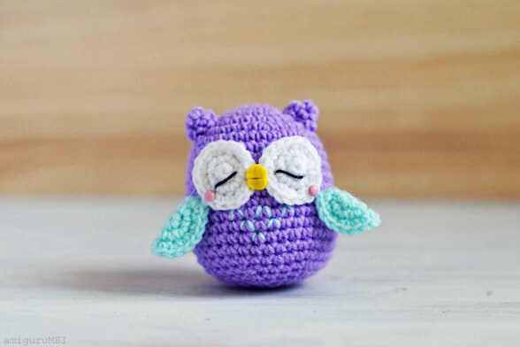 Free Crochet Pattern Small Owl : Stuffed Owl Crochet Pattern Rachael Edwards