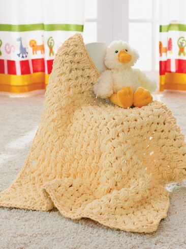 14. fluffy puff crochet bay blanket free