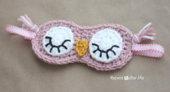 14.SleepyOwlMask crochet free pattern2