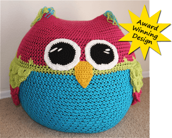15.owl-bean-bag-chair-crochet-pattern cuchin