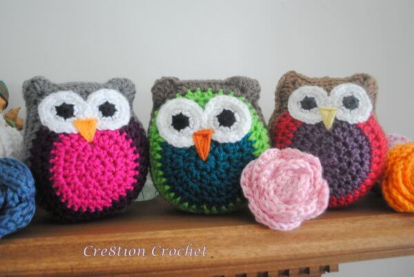 16.owl family crochet tutorial cushion