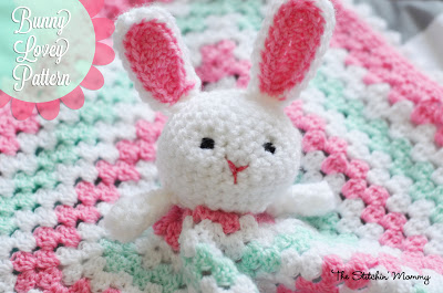 2.free crochet bunny baby security blanket pattern
