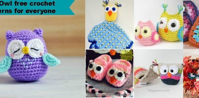 20+free crochet owls patterns