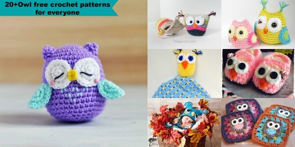 Sweet Owls Free Crochet Patterns | Owl crochet pattern free, Owl ... | 300x600