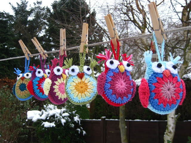 20.easy crochet owls tutorial free pattern