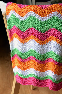 22.ripple chevron  rainbow easy how to crochetbabayblankie1