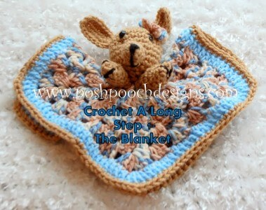 3.dog baby security baby blanket free crochet pattern