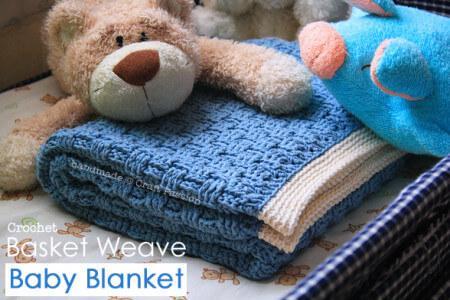 6. baby afghan  free crochet pattern basket-weave-blanket-1