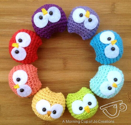 9.how to crochet owl amigurumi free pattern beginner small tiny
