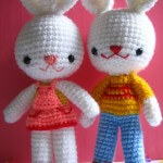 charlie &Angel bunny -free amigurumi pattern