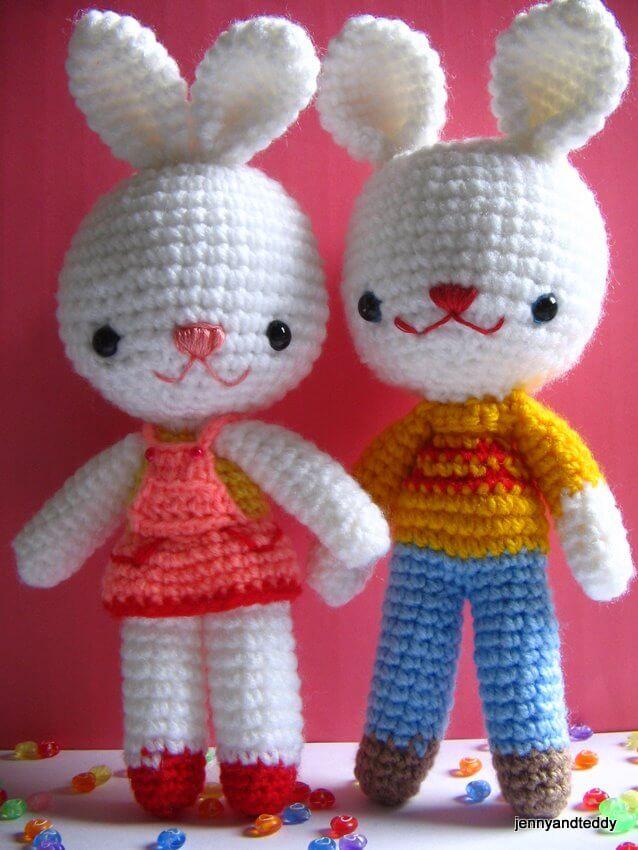 Large Amigurumi Free Patterns : charlie &Angel bunny -free amigurumi pattern