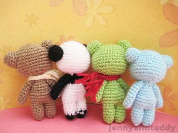 bear panda frog free amigurumi pattern small tiny