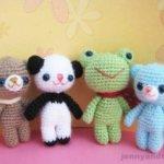 brownie bear and his friends free amigurumi pattern