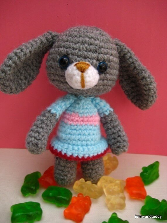 Amigurumi Bunny Pattern Rabbit Crochet Pattern For Easter ...
