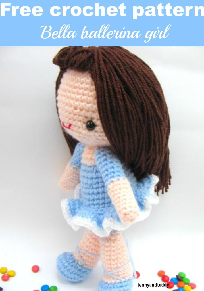 bella ballerina amigurumi girl crochet doll free pattern by jennyandteddy