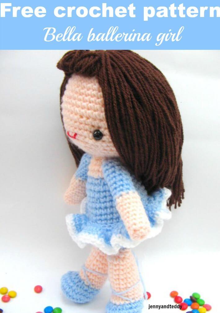 bella ballerina amigurumi girl crochet doll free pattern by jennyandteddy