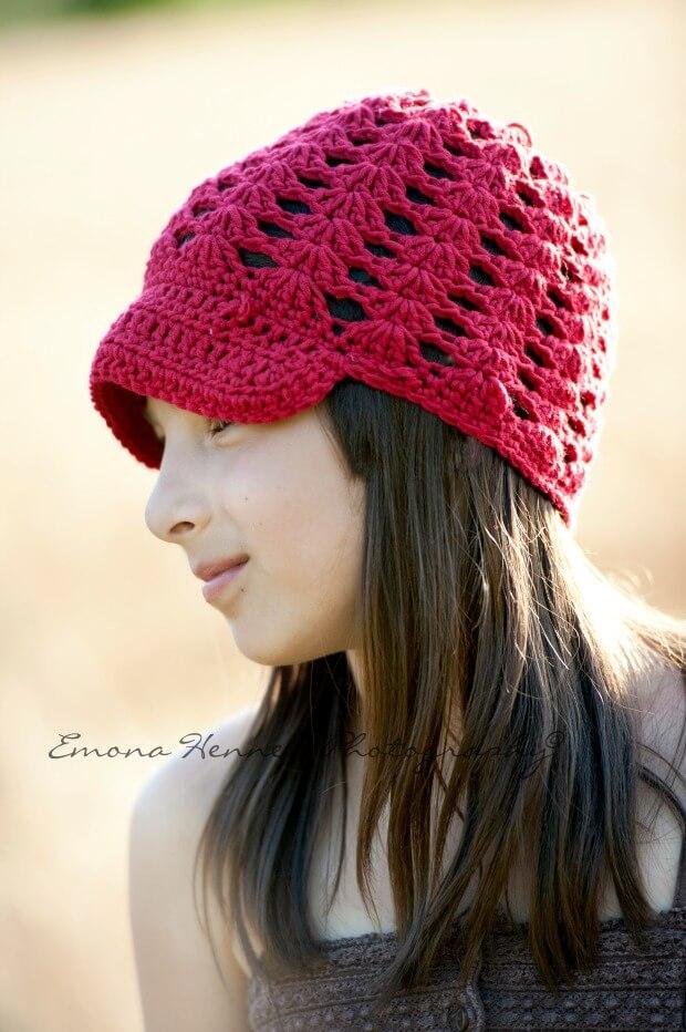 breezy brim beanie crochet free pattern by jennyandteddy