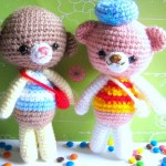 Tony bear and Toby dog free amigurumi pattern