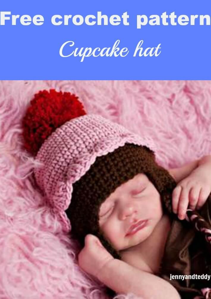 cupcake crochet hat free pattern by jennyandteddy