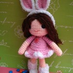Rose girl bunny- free amigurumi pattern
