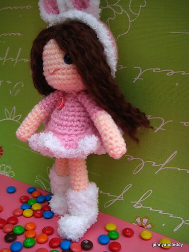 free amigurumi pattern girl bunny by jennyandteddy