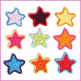 13.small crochet star free crochet pattern