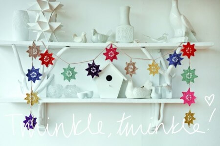 14.crochet easy star garland free pattern