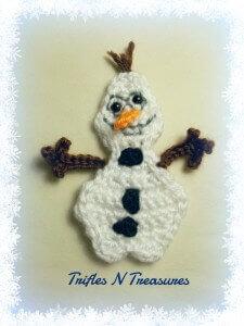 15.olaf easy free applique frozen crochet pattern