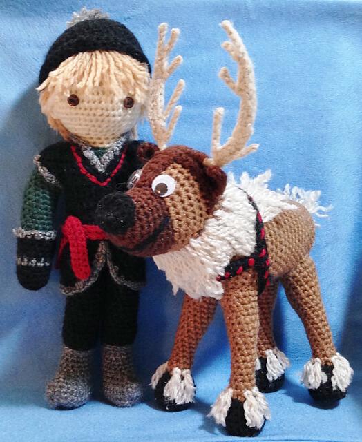 17.crochet raindeer frozen inspired free amigurumi pattern