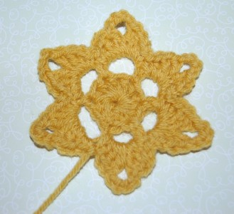20.crochet star applique