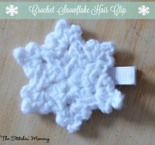 21. easy crochet snowflake-hair clip1