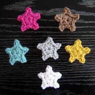 22.crochet star applique