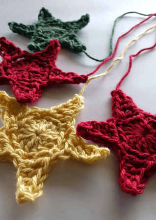 23.crochet star free pattern