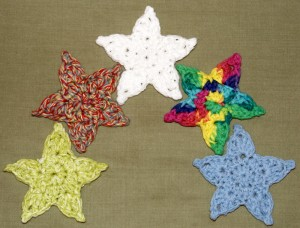 24.free crochet star easy pattern