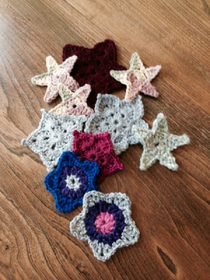 25_point_stars_free crochet pattern