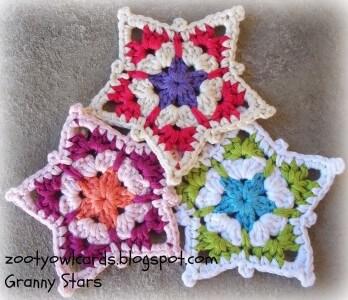 27.crochet granny stars tutorial
