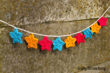 31. how to Crochet Star Bunting