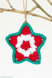 4.Star Christmas Ornament Crochet free Pattern