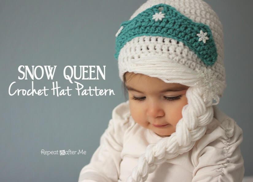 6.SnowQueen1free crochet hat pattern Elsa hat