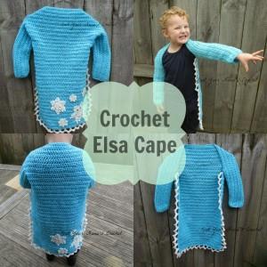 7.Crochet Elsa Cape free pattern frozen