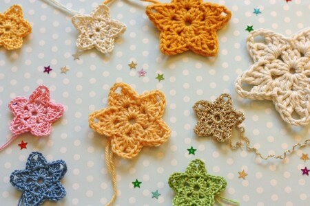9.crochet easy  star colour free pattern
