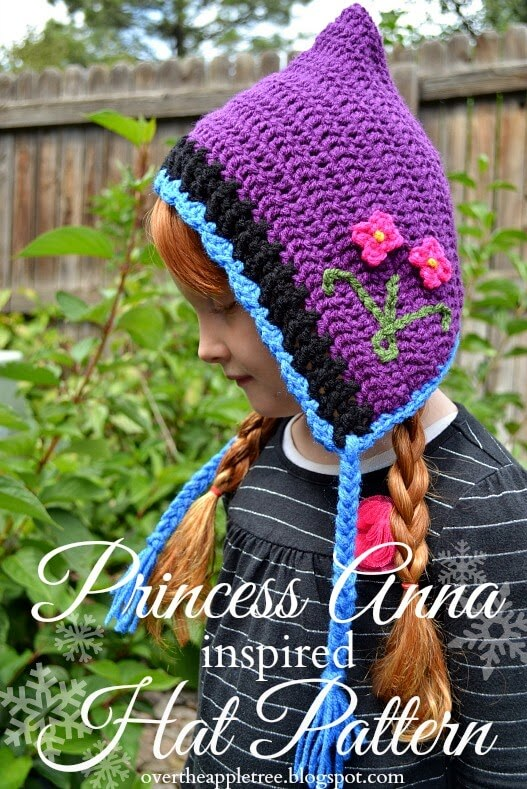 9.princess Anna crochet hat free pattern