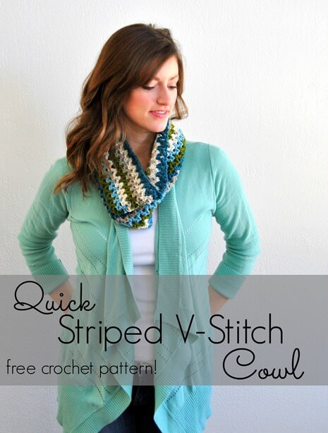 18.quick v stitches cowl crochet free pattern