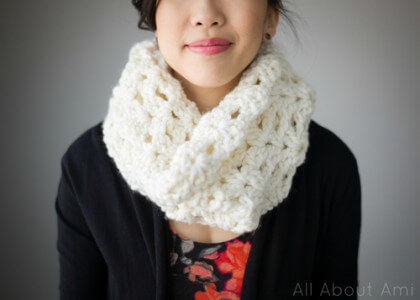21.round shellstitches cowl easy tutorial
