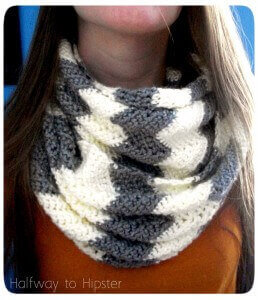 27.how to crochet easy Chevron  cowl free pattern