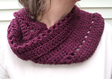 36.easy crochet cowl free pattern
